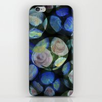 Blue and Black Around iPhone & iPod Skin