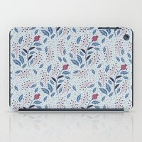 Purple Thistle Buds iPad Case