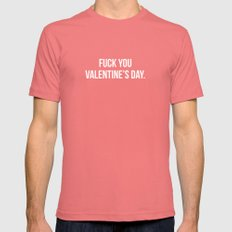 Fuck You Valentine's Day.  Mens Fitted Tee Pomegranate SMALL