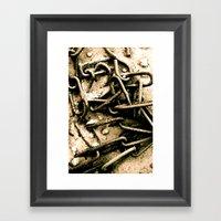 Chains In The Garden San… Framed Art Print