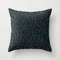 Crystals Pattern Throw Pillow