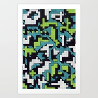 Bad at Tetris Art Print