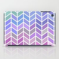 blue & purple chevron iPad Case