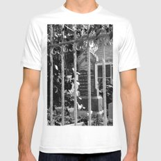 Looking Through SMALL Mens Fitted Tee White
