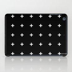 White Plus On Black /// … iPad Case