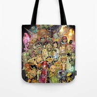 Tote Bag featuring Lil' X by Sheep-n-Wolves Clothing