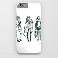 Brush Pen Fashion Illustration - East Coast Girls iPhone 6 Slim Case