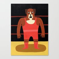 Dog Wrestler Canvas Print