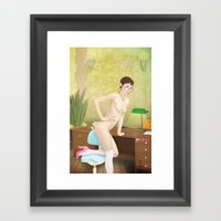 Employee Of The Month Framed Art Print