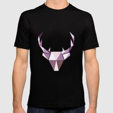 Polydeer in Space Mens Fitted Tee Black SMALL