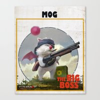 Retro Big Boss Promo  Canvas Print