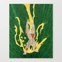 Call Me, Jimmy (Homage to Blanka from Street Fighter) Canvas Print
