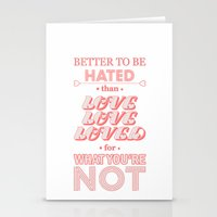 I Am Not A Robot ; Marin… Stationery Cards