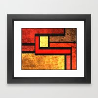 Red Yellow Orange Framed Art Print