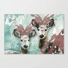 majestic fawn Canvas Print