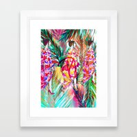 Summer Vibes #fashionillustration  Framed Art Print