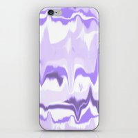 Marbled In Orchid iPhone & iPod Skin