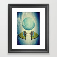 Planet Uranus Framed Art Print