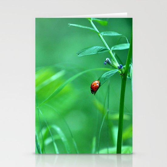 Ladybug Stationery Card