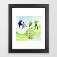 love is you Framed Art Print