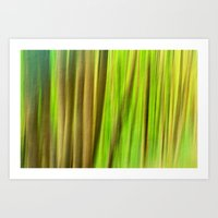 FOREST PEACE ABSTRACT Art Print