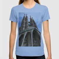Work in Progress (La Sagrada Familia) Womens Fitted Tee Athletic Blue SMALL