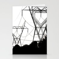 I heart your electricity. Stationery Cards