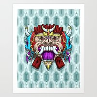 Greed Barong Mask Art Print