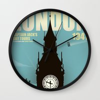 Captain Jack's Sky Tours Wall Clock