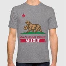 New California Republic Mens Fitted Tee Tri-Grey SMALL