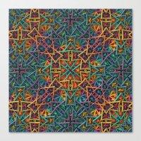 Colorful Fractal Pattern Canvas Print