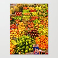 Canvas Print featuring Market Place by KeCuddihee