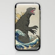 iPhone & iPod Skin featuring The Great Godzilla Off K… by DinoMike