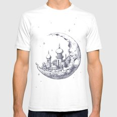 Arabian Crescent White SMALL Mens Fitted Tee