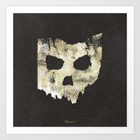 Ohio Skull Art Print