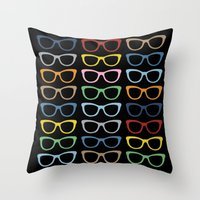 Sunglasses at Night Throw Pillow