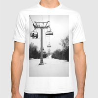Up The Mountain Mens Fitted Tee White SMALL