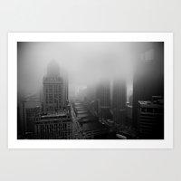 Fog Over Chicago Art Print