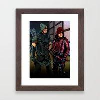 Arrowverse Framed Art Print