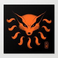 9 Tailed Beast Canvas Print