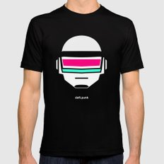 Daft Punk Mens Fitted Tee SMALL Black