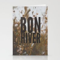 bon hiver. Stationery Cards