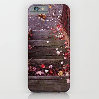 iPhone & iPod Case featuring Autumn Stairs by Nevermind the Camera