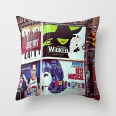New York City Broadway Signs Throw Pillow