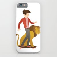 iPhone & iPod Case featuring Cool Pet Lion by emilydove
