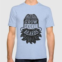 Only Real Hockey Players… Mens Fitted Tee Tri-Blue SMALL