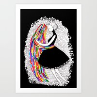 Ghosts Dance Art Print