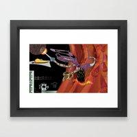 Monster Attack!! Framed Art Print