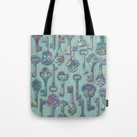 Pastel Skeleton Keys Tote Bag