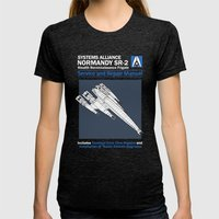 Normandy SR-2 Systems Alliance Service and Repair Manual Womens Fitted Tee Tri-Black SMALL